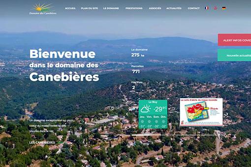 Domaine des Canebières site web